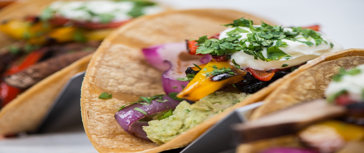 Grilled Vegetable Tacos with Cannellini and Avocado Filling